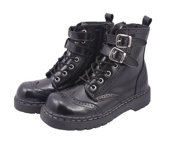 T.U.K. Boots T2174 Anarchic Top Buckle Strap Time Bandit 40