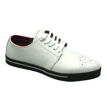 T.U.K. Sneaker A7186 Pointed Shoes white 42